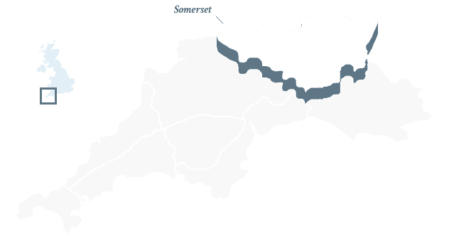 Map of South West